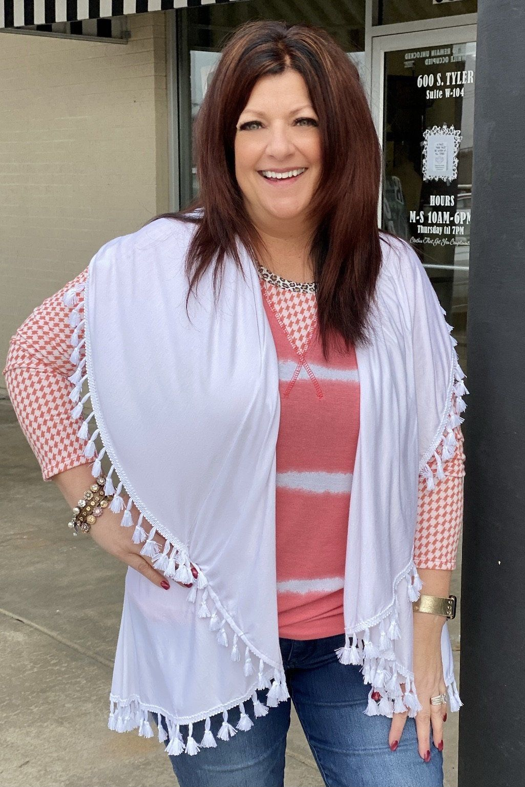 Cardigan with fun tassel trim OUTFIT COMPLETER K.Lane's Boutique