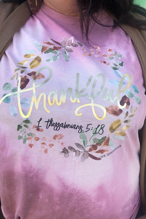 Wreath Thankful Tee