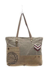 Military Badge Tote Bag