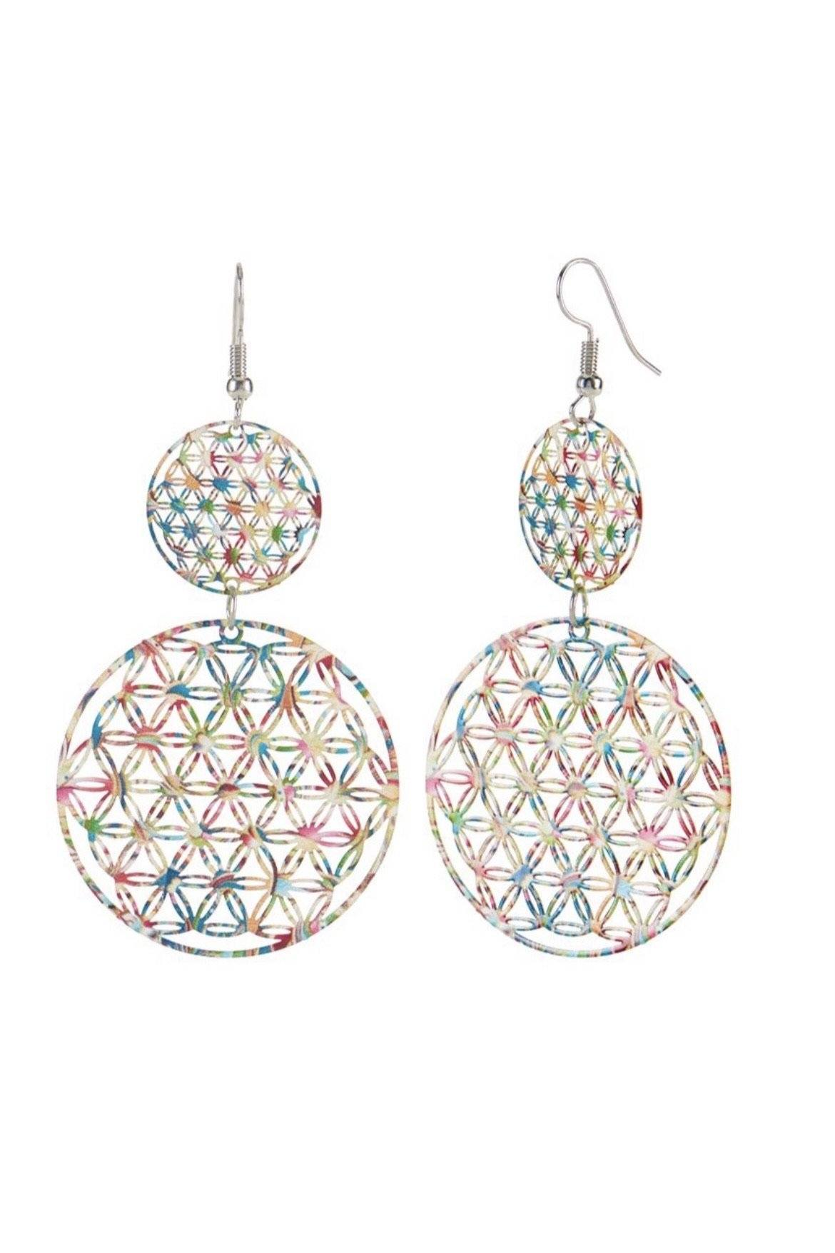 Multi Stacked Circles Dangle JEWELRY Whispers