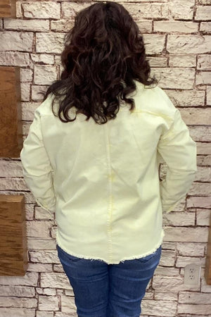 Acid Wash Jacket JACKET K.Lane's Boutique