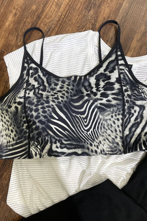 Safari Print Sports Bra UNDER K.Lane's Boutique