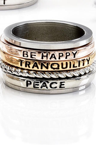 Be Happy, Tranquility, Peace Ring