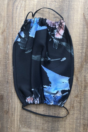 Masks SCARF/HAT/WINTERGOODS K.Lane's Boutique ONESIZE BLACKFLORAL