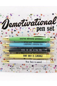 Demotivational Pen Set 5pc