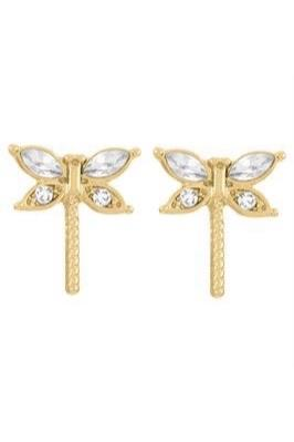 Gold Dragonfly Earrings