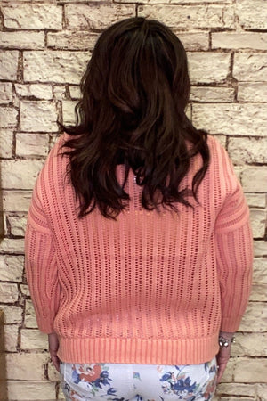 100% Cotton Open Rib Sweater SWEATER TRIBAL