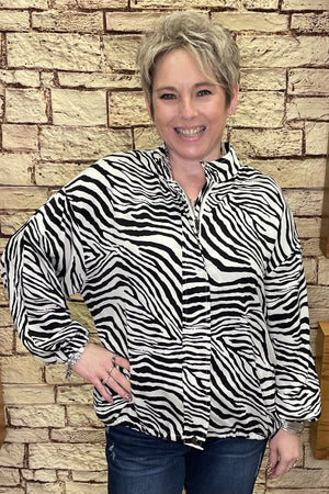 Zebra Oversized Jacket OUTFIT COMPLETER The Paisley Parrot