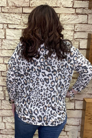Leopard Dolman Zipper Top MISSY TOP SPECIAL K.Lane's Boutique