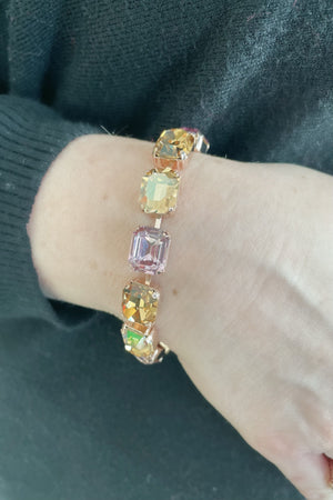 Emerald Cut Bracelet - Meadow Brown BETTERBRANDJEWELRY Mariana