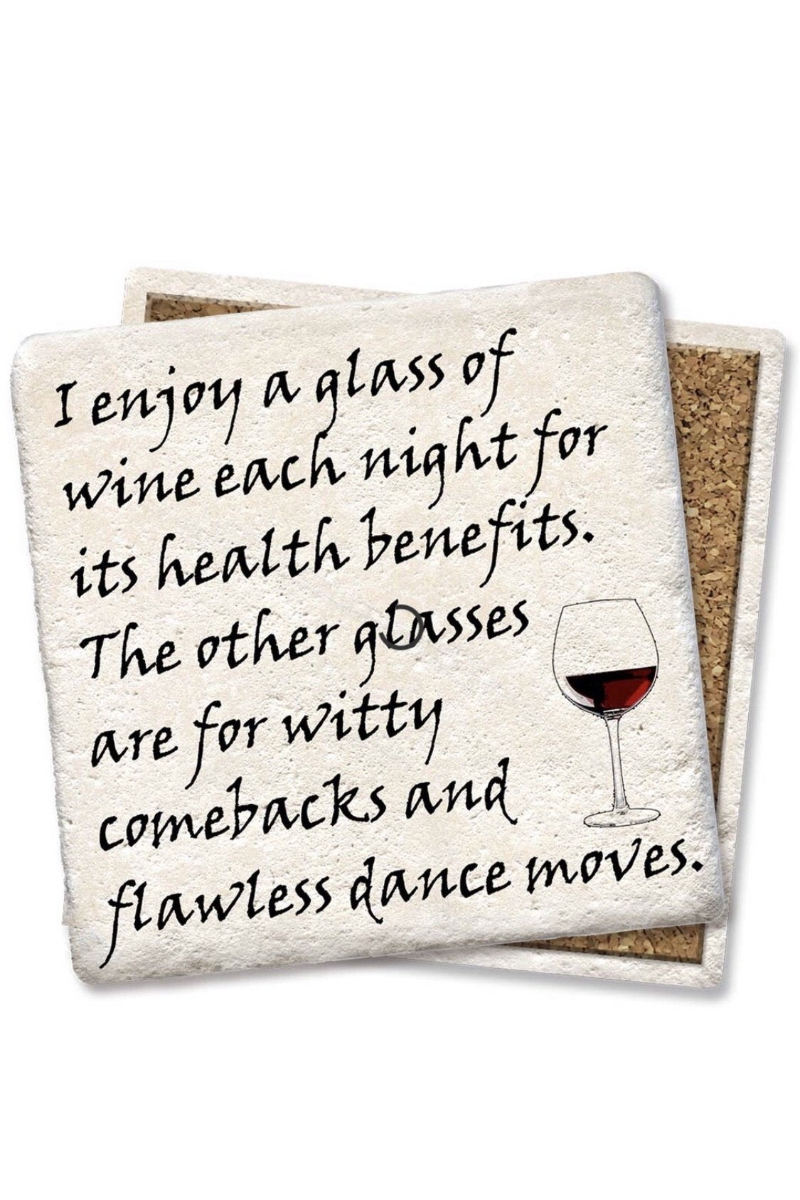 Glass of Wine Coaster