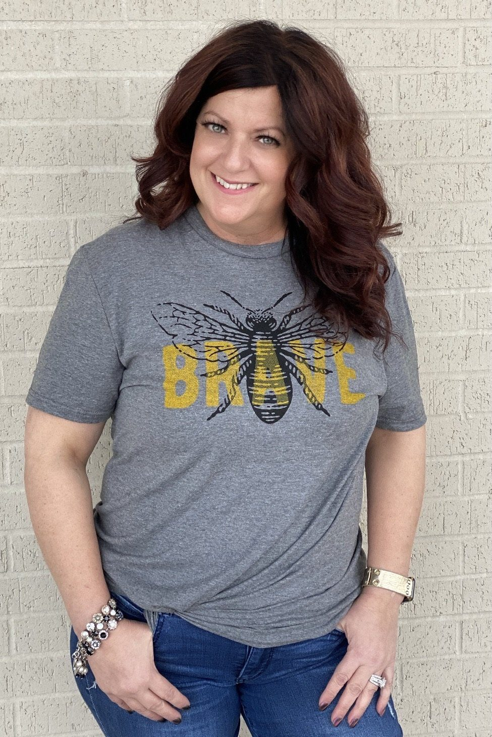 Bee Brave Tee MISSY BASIC KNIT K.Lane's Boutique