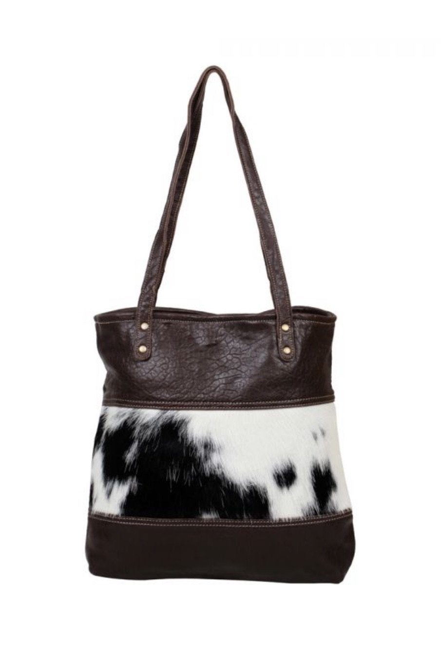 Furred Leather Hairon Bag