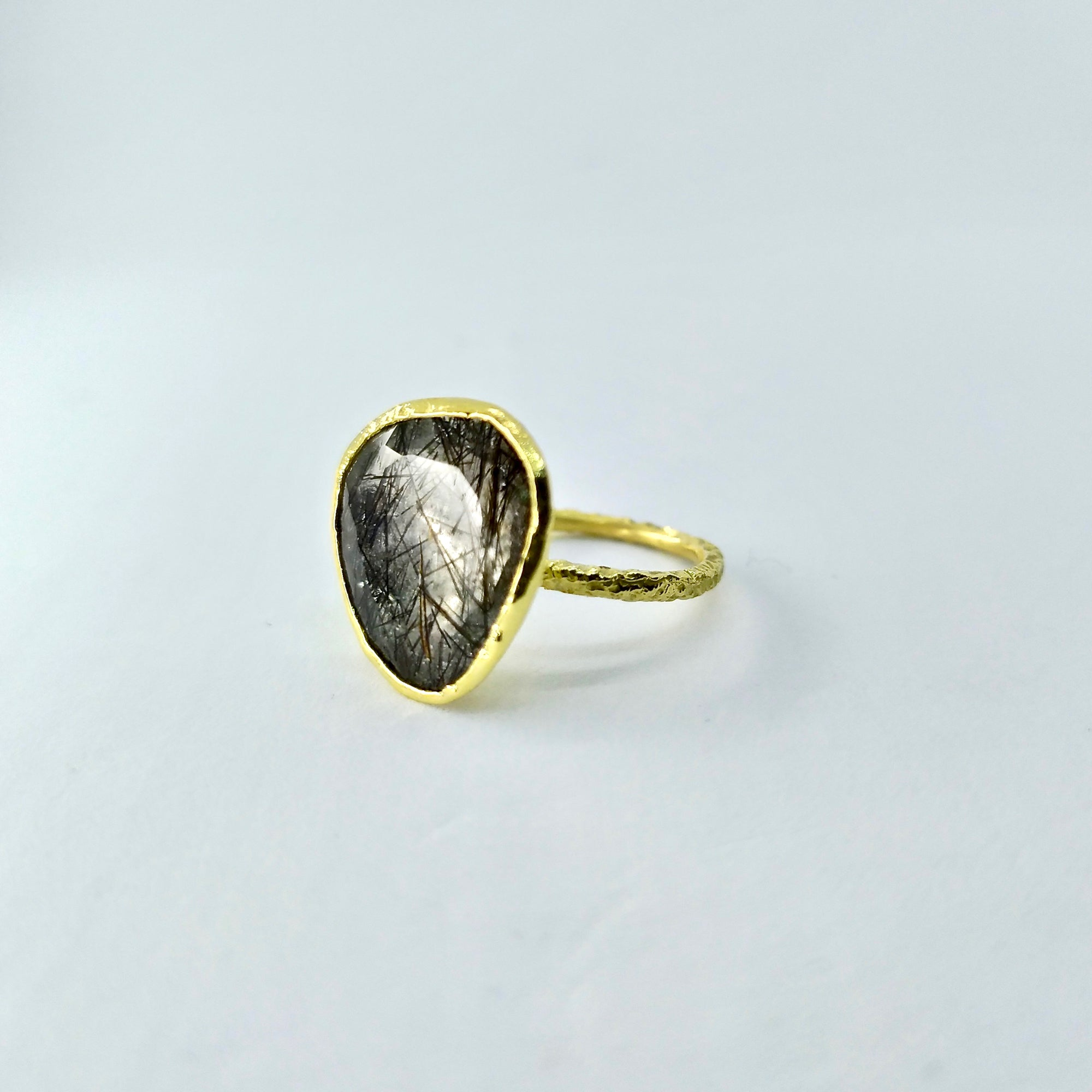 Tourmalinated Quartz Ring [Unique Piece] - Florentine Handmade Jewellery