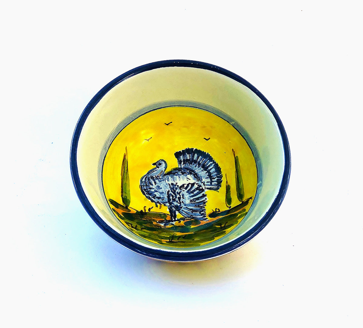 Animals Bowl Turkey - Handpainted Ceramics