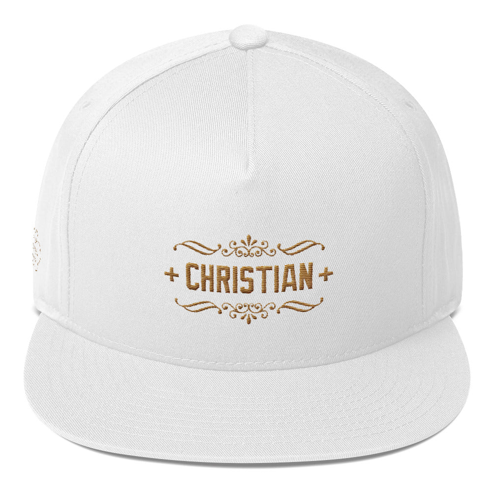 A cap branded by Recherche High Cotton for religious sharing. A flat bill cap