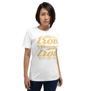 Iron Sharpeneth Iron Elegant Short-Sleeve Unisex T-Shirt