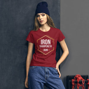 iron sharpeneth iron Women's short sleeve t-shirt