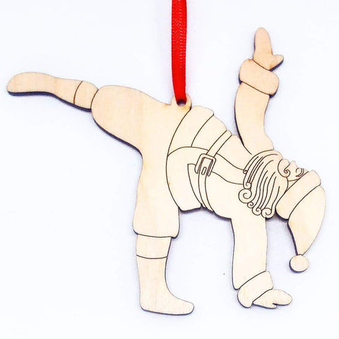 Yoga Santa - Moon Pose Individual Ornament
