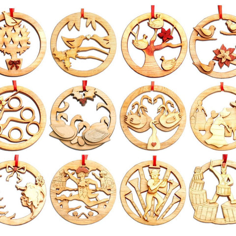 Twelve Days of Christmas Ornament Collection