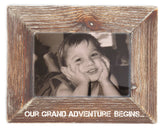 Our Grand Adventure Begins Natural Wood Picture Frame for Ultrasound Sonogram