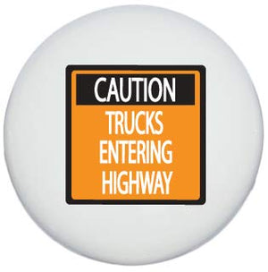 Single Caution Construction Trucks Entering Highway Street Sign Drawer Knobs Ceramic Road Signs Cabinet Handle Pulls