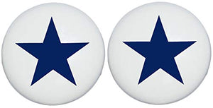 Two Navy Blue and White Nautical Star Drawer Pull Knobs, Ceramic Dresser Cabinet Pulls, Children's Nursery Decor (Set of Two)
