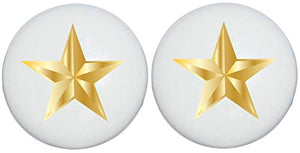Two Gold Nautical Star Drawer Knobs Ceramic Dresser or Cabinet Handle Pulls Children's Nursery Decor (Set of Two)