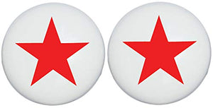 Two Red Nautical Star Drawer Knobs Ceramic Dresser or Cabinet Handle Pulls Children's Nursery Decor (Set of Two)