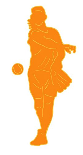 Orange Pitcher Softball Wall Decals / Girls Sports Wall Stickers