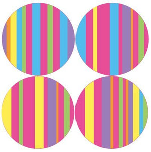 13in. Pop Striped Circle Decals
