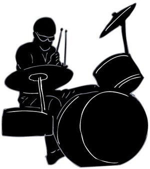 Drummer Wall Decals / Rock Star Wall Stickers