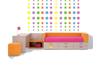 Pop Dots Multicolored / Dot Wall Decals / Stickers