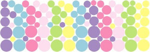96 Baby Shades Pastel Dot Wall Decals Stickers