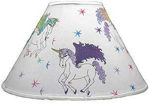 Unicorn Lamp Shade/Multicolored Unicorn Horse and Stars Children's Nursery Decor 11 x 7 x 4