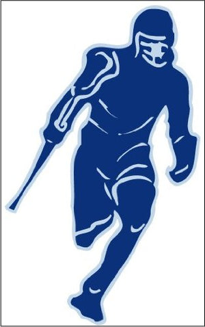 Lacrosse Player Blue Wall Sticker Decals
