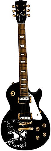 Black Electric Guitar Wall Sticker / Guitar Wall Decals