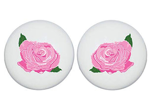 Pink Rose Drawer Knobs Ceramic Dresser or Flower Cabinet Handle Pulls Children's Nursery Decor