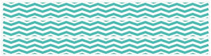 Chevron Border Wall Decals Stickers in Aqua Blue