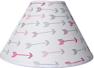Pink and Grey Arrow Lamp Shade, Woodland Forest Western Themed Girls Children's Nursery Decor