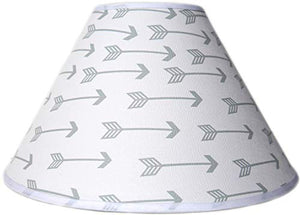 Grey Arrow Lamp Shade, Woodland Forest Western Themed Children's Nursery Decor