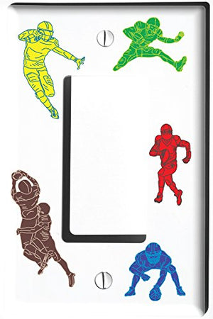 Football Light Switch Plate Covers and Outlet Covers / Sports Football Wall Decor