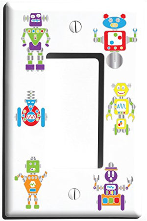 Robot Light Switch Plate and Outlet Covers/Robots Nursery or Children's Wall Decor