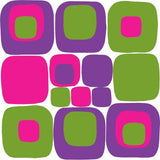 Mod Squares Purple Pink Green Wall Decals