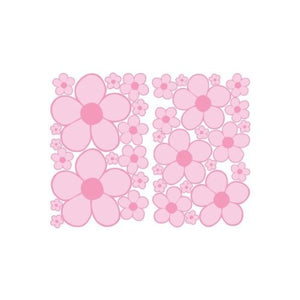 Pink Mini Daisy Flower Wall Stickers, Decals, Decor