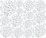 Gray Leopard Print Dot Wall Decals Animal Print Wall Stickers