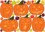 Halloween Pumpkin and Leaves Wall Stickers