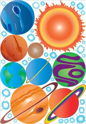 Outer Space Planet Wall Decals  Solar System Decor Stickers