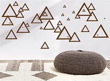 Retro Mod Triangle Wall Decals, Modern Geometric Triangles Wall Decor Stickers