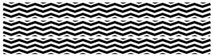 Black Chevron Border Wall Decals Stickers
